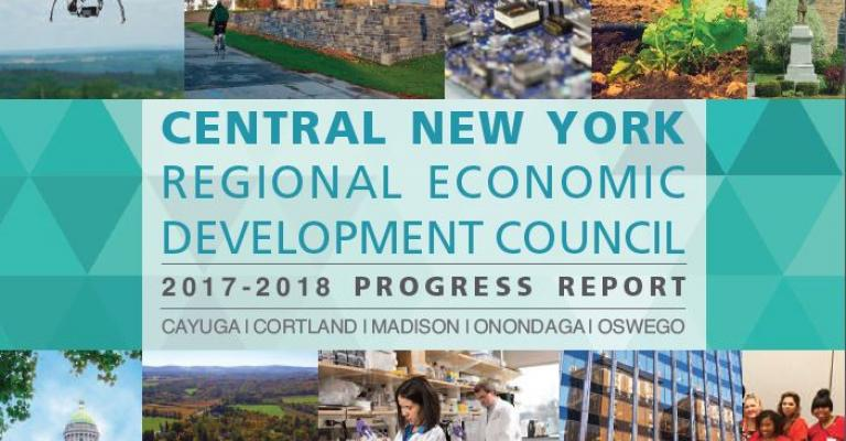 Cover of the 2017 Central New York REDC Progress Report