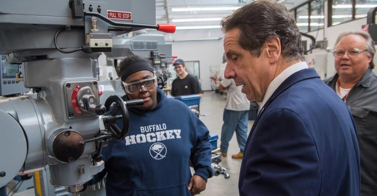 Cuomo at Northland Workforce Center